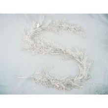 6ft Silver Glitter Mica Caspia Garland #MTX36863