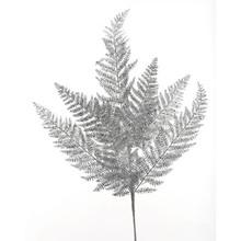 24in Silver Glitter Lace Fern Spray #MTX52310