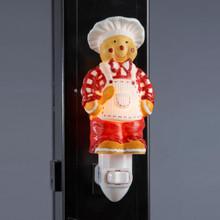 Kurt Adler Ceramic Gingerbread Chef Night Light #D0975
