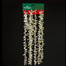 Kurt Adler 9ft Iridescent/Gold Bead Garland #H2086GO