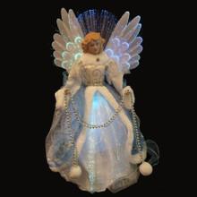 16in White & Blue Fiber Optic Angel