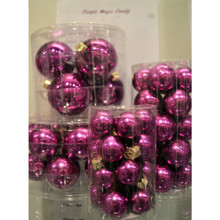 Solid Glass Ball Ornament in Purple Magic Candy, 6-Pack