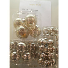 Solid Glass Ball Ornament in Antique Crackle, 6-Pack
