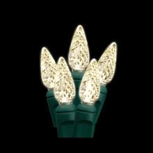 30 LED Diamond C6 Warm White Bulb Light Set