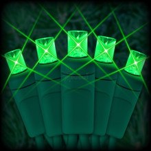 60 LED Green Mini Light Bulb Set