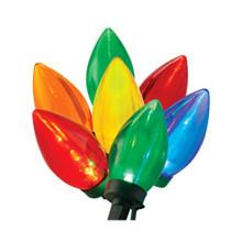 70 LED Transparent  C9 Multi Colored Light Set Spool