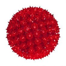 100 Red Light Bulb Sphere