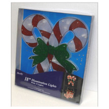 18in 20-Light Candy Cane Glazed Window Mold