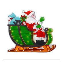 18in 20-Light Santa & Sleigh Glazed Window Mold