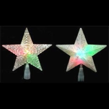 10-Light Multi Color Changing Star Tree Topper, 2 Assorted