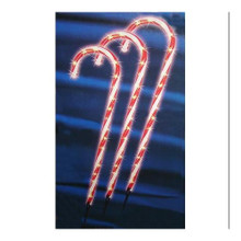 3 Piece Candy Cane Lawn Stake Set