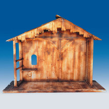 55in Wooden Nativity Stable #70495