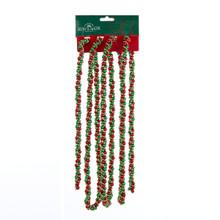 Kurt Adler 9ft Red, Green & Gold Beads Twisted Garland #H9490RGGO