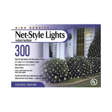 300 High Density Net Light Set in Clear Bulbs and Green Wire