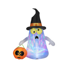 Kaleidoscope Ghost with Witch Hat Inflatable