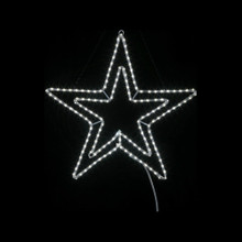 24in LED Double Star in Cool White