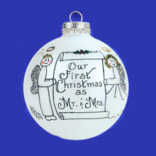Heart Gifts by Teresa Mr & Mrs 1st Christmas Keepsake Ornament #004-7