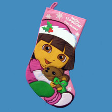 Kurt Adler 19in Dora Printed Applique Stocking #DR7115