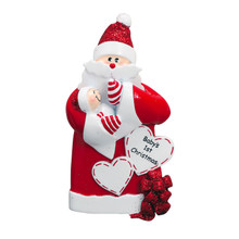 Rudolph & Me Santa Baby in Red Personalized Ornament #1608R