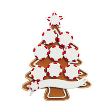 Rudolph & Me Gingerbread Tree Family of 8 Personalized Ornament #4-8