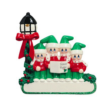 Rudolph & Me Caroler Family of 4 Personalized Ornament #1407-4