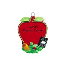 Rudolph & Me Teacher's Apple Personalized Ornament #1476