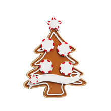 Rudolph & Me Gingerbread Tree Family of 4 Personalized Ornament #4-4