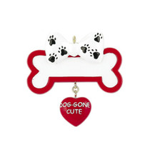 Rudolph & Me Dog Gone Cute Bone Personalized Ornament #65