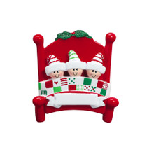 Rudolph & Me Bed Heads - 3 Personalized Ornament #705-3