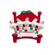 Rudolph & Me Bed Heads - 5 Personalized Ornament #705-5