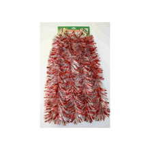 12ft Tinsel Garland in Red and Silver #3F-20S