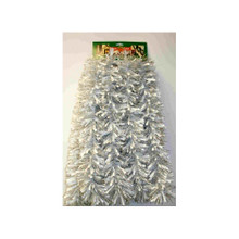 12ft Tinsel Garland in Silver and White #3F-80S