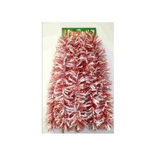 12ft Tinsel Garland in Red and White #3F-82S