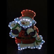 LED Rope Light Snowman with Snowchildren