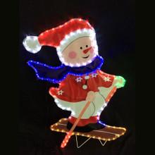 LED Rope Light Skiing Snowman