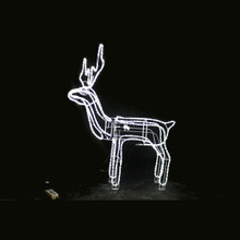 LED Twinkling Rope Light Standing Reindeer