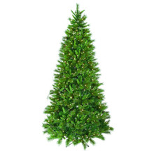 12' Pre-Lit Slim Belgium Mix Christmas Tree with 1300 Clear UL Lights