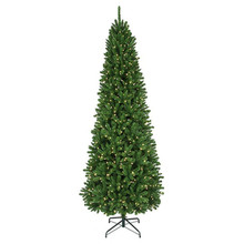 12' Prelit Pencil Thunderbay Christmas Tree with 1,100 Clear UL Lights
