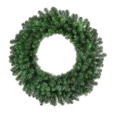 "72"" Pre-Lit Hudson Valley Christmas Wreath with 400 Clear UL Lights"
