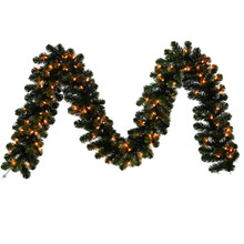 9ft x 12in Kentucky Pine Green Unlit Garland with 220 Tips