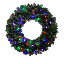 30in Kentucky Pine Green Wreath with 250 Tips & 70 Multi LED Lights