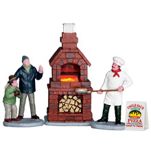 Lemax Village Collection Outdoor Pizza Oven, Set of 4, #64066
