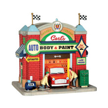 Lemax Village Collection Carl's Auto Body & Paint #65119