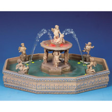 Lemax Village Collection Lighted Village Square Fountain #14663