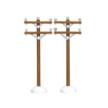 Lemax Village Collection Telephone Poles, Set of 2 #64461