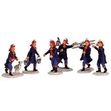 Lemax Village Collection Fireman, Set of 6 #02446