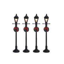 Lemax Village Collection Gas Lantern Street Lamp, set of 4 #64498