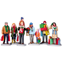 Lemax Village Collection Holiday Shoppers, Set of 6 #92683
