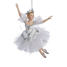 "Kurt Adler 6.75"" Snow Queen Ballerina Ornament #C8574"