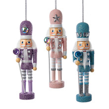 Kurt Adler Hollywood Pastel Nutcracker Ornaments, 3 Asssorted #HA0308